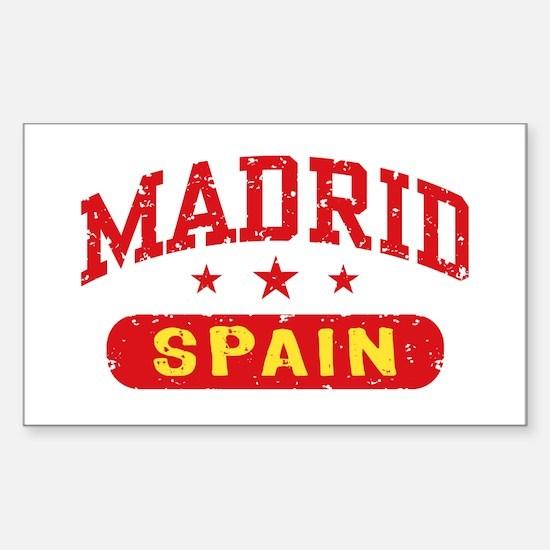 Madrid Spain Sticker (Rectangle)