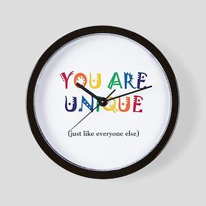 You are Unique Wall Clock