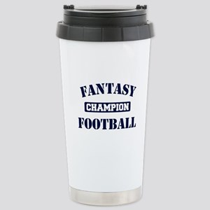 Fantasy Football Champion Stainless Steel Travel M