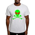 Alien Skull and Bones Light T-Shirt