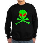 Alien Skull and Bones Sweatshirt (dark)