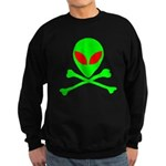Alien Skull and Bones Sweatshirt (dark)