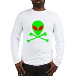 Alien Skull and Bones Long Sleeve T-Shirt