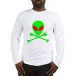 Alien Skull and Bones Long Sleeve T-Shirt