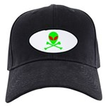 Alien Skull and Bones Black Cap