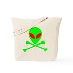 Alien Skull and Bones Tote Bag