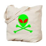 Alien Skull and Bones Tote Bag