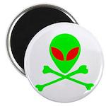 Alien Skull and Bones Magnet