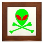 Alien Skull and Bones Framed Tile
