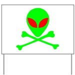Alien Skull and Bones Yard Sign