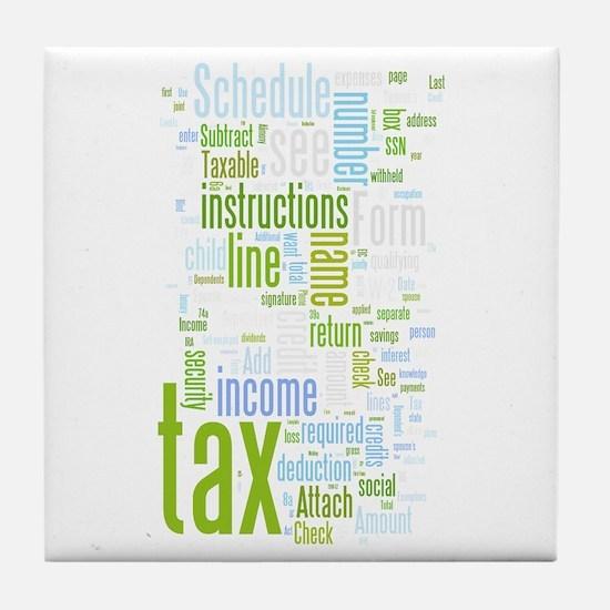Cute Tax Tile Coaster