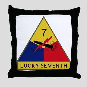 Lucky Seventh Throw Pillow