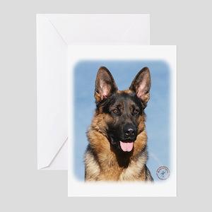 German Shepherd Dog 9Y554D-150 Greeting Cards (Pk
