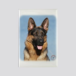 German Shepherd Dog 9Y554D-150 Rectangle Magnet