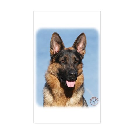 German Shepherd Dog 9Y554D-150 Sticker (Rectangle)