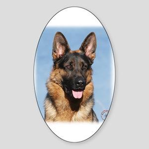 German Shepherd Dog 9Y554D-150 Sticker (Oval)