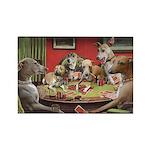 Italian Greyhound Poker Dogs Rectangle Magnet