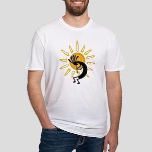 Hopi Kokopelli Gold Fitted T-Shirt