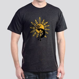 Hopi Kokopelli Gold Dark T-Shirt