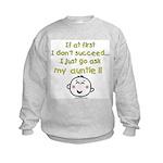 just ask auntie Kids Sweatshirt