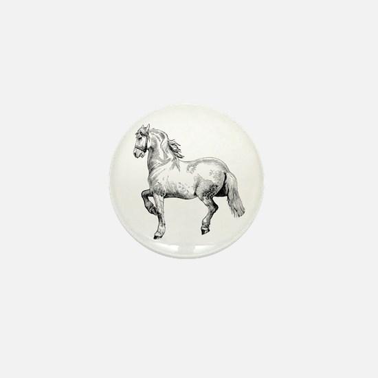 Horse Art IIlustration Mini Button