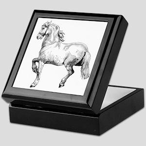 Horse Art IIlustration Keepsake Box