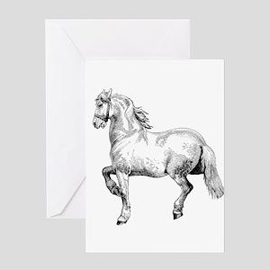 Horse Art IIlustration Greeting Card