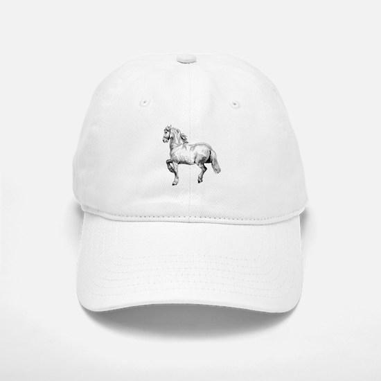 Horse Art IIlustration Baseball Baseball Cap