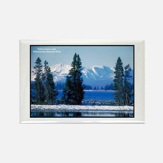 Yellowstone National Park Lake Rectangle Magnet