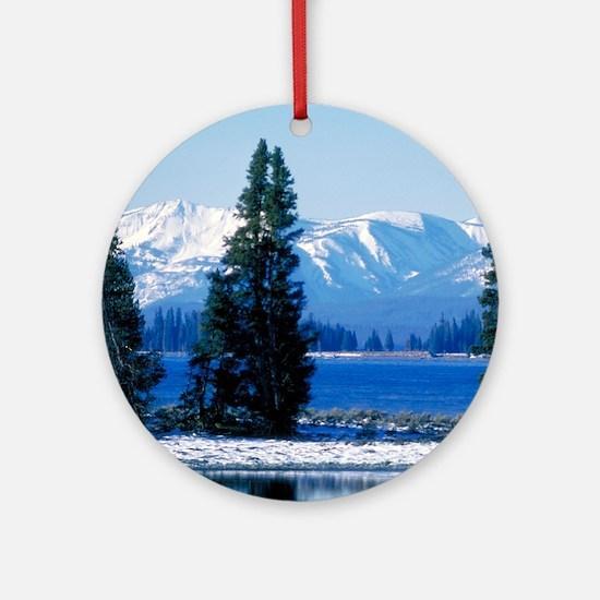 Yellowstone National Park Lake Ornament (Round)