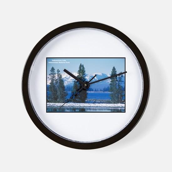 Yellowstone National Park Lake Wall Clock