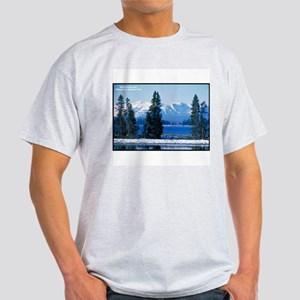 Yellowstone National Park Lake (Front) Ash Grey T-