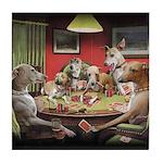 Italian Greyhound Poker Dogs Tile Coaster