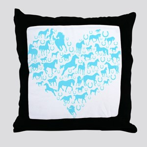 Horse Heart Art Throw Pillow