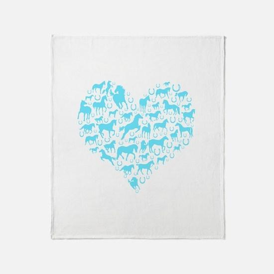 Horse Heart Art Throw Blanket