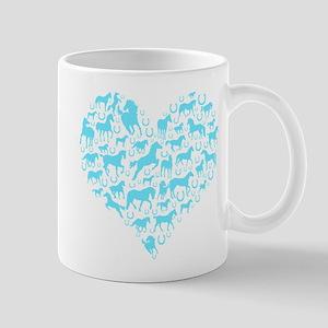 Horse Heart Art Mug