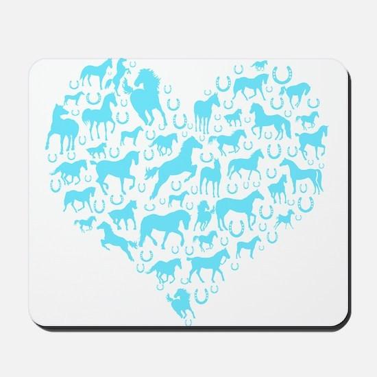 Horse Heart Art Mousepad