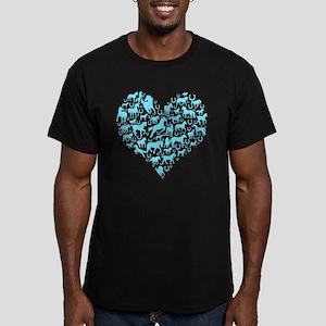 Horse Heart Art Men's Fitted T-Shirt (dark)