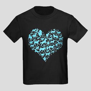 Horse Heart Art Kids Dark T-Shirt