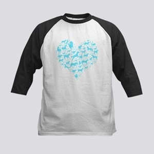Horse Heart Art Kids Baseball Jersey