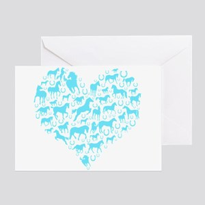Horse Heart Art Greeting Card