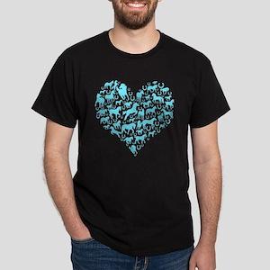 Horse Heart Art Dark T-Shirt