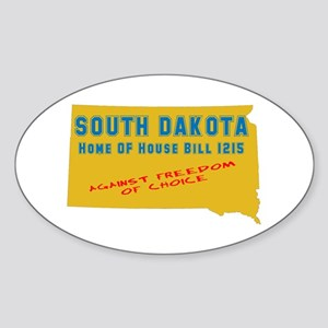 S D Abortion ban Oval Sticker