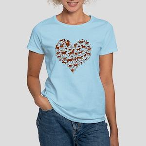 Horses & Ponies Heart Women's Light T-Shirt