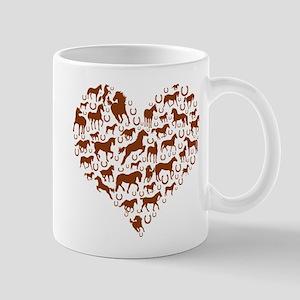 Horses & Ponies Heart Mug