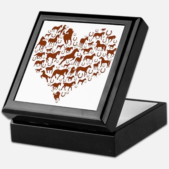 Horses & Ponies Heart Keepsake Box
