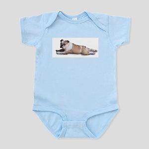 Lounging Bulldog Infant Bodysuit