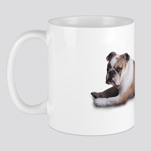 Lounging Bulldog Mug