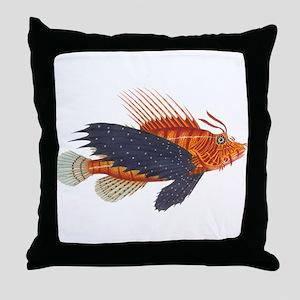 Lionfish, Genus Pterois Throw Pillow