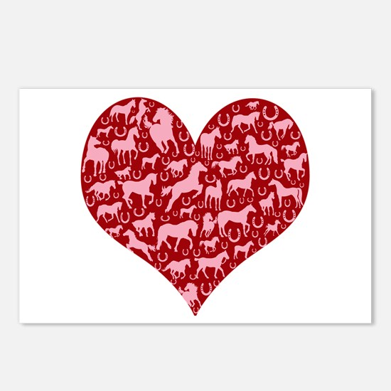 Horsey Heart Postcards (Package of 8)